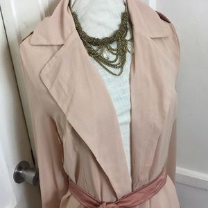 carli x missguided Jackets & Coats - Carli x missguided rose pink sheer coat